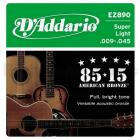 D'ADDARIO EZ890 80/15 Bronze Super Light - .009 - .045