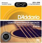 D'ADDARIO EXP19 Phosphor Bronze Light Top/Medium Bottom - .012 - .056