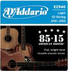 D'ADDARIO EZ940 80/15 Bronze Light - .010 - .050