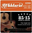 D'ADDARIO EZ900 80/15 Bronze Extra Light - .010 - .050
