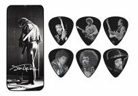 DUNLOP JH-PT06M Jimi Hendrix Silver Pick Tin Medium