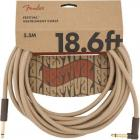 FENDER Festival Series 18,6 Pure Hemp Instrument Angled Cable Natural