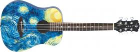 LUNA GUITARS Safari Starry Night 3/4