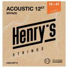 "HENRY'S STRINGS HAB12ST10 Acoustic Bronze - 010"" - 047"""