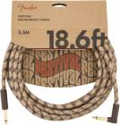 FENDER Festival Series 18,6 Hemp Instrument Angled Cable Brown Stripe