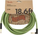FENDER Festival Series 18,6 Hemp Instrument Angled Cable Green