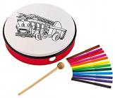 "NINO PERCUSSION NINO5FT Customizable ABS Hand Drum 10"" - Fire Truck"