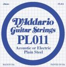 D'ADDARIO Plain Steel - Jednotlivá struna - .011