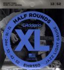 D'ADDARIO EHR350 Half Rounds Jazz Light -  .012 - .052