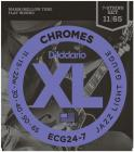 D'ADDARIO ECG24-7 Chromes Flat Wound 7-String Jazz Light 11-65