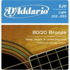 D'ADDARIO EJ11 Bronze Light 12-53