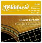 D'ADDARIO EJ14 80/20 Bronze Light Top/Medium Bottom - .012 - .056