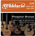 D'ADDARIO EJ15 Phosphor Bronze Extra Light - .010 - .047