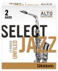 RICO RRS10ASX2H Select Jazz - Alto Saxophone Reeds - Unfiled - 2 Hard - 10 Box
