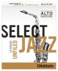 RICO RRS10ASX3S Select Jazz - Alto Saxophone Reeds - Unfiled - 3 Soft - 10 Box