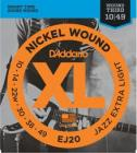 D'ADDARIO EJ20 Nickel Wound Jazz Extra Light - .010 - .049