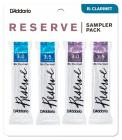RICO DRS-C30 Reserve Reed Sampler Pack - Bb Clarinet 3.0/3.5 - 4-Pack