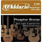 D'ADDARIO EJ42 Phosphor Bronze Resofonic Extra Light - .016 - .052