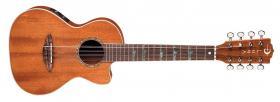 LUNA GUITARS High Tide 8-String AE Ukulele Satin Natural